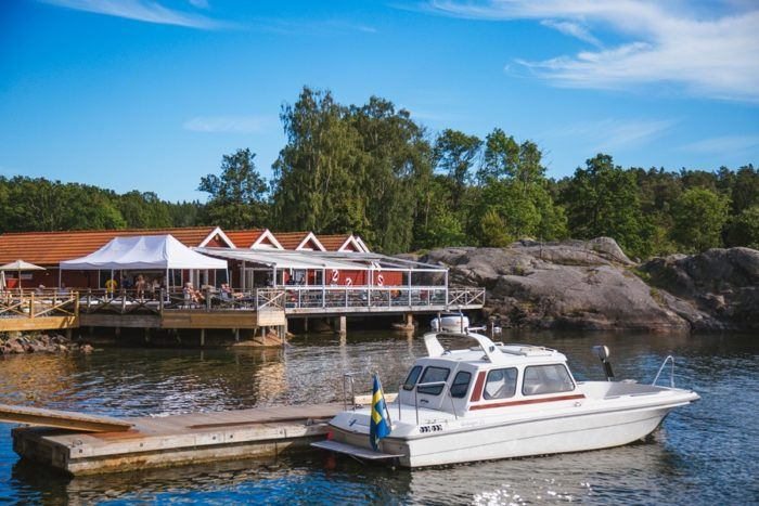 L'archipel de Stockholm et ses pontons