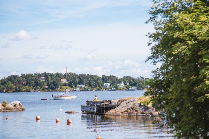 Un ponton sur l'archipel de Stockholm