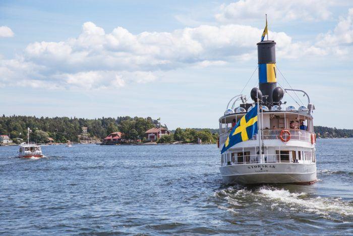 Un bateau sur l'Archipel de Stockholm