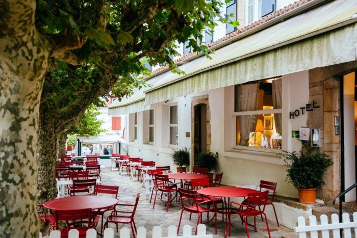 La terrasse de l'Hôtel Arraya