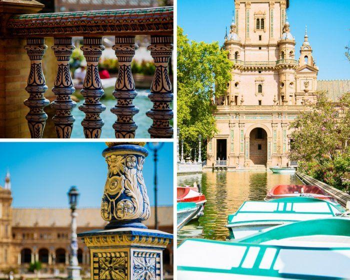 Les décorations de la Plaza de España