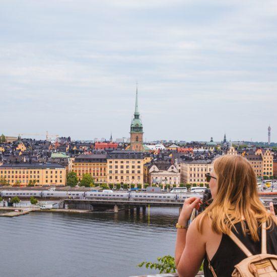 Panorama sur Stockholm à Södermalm