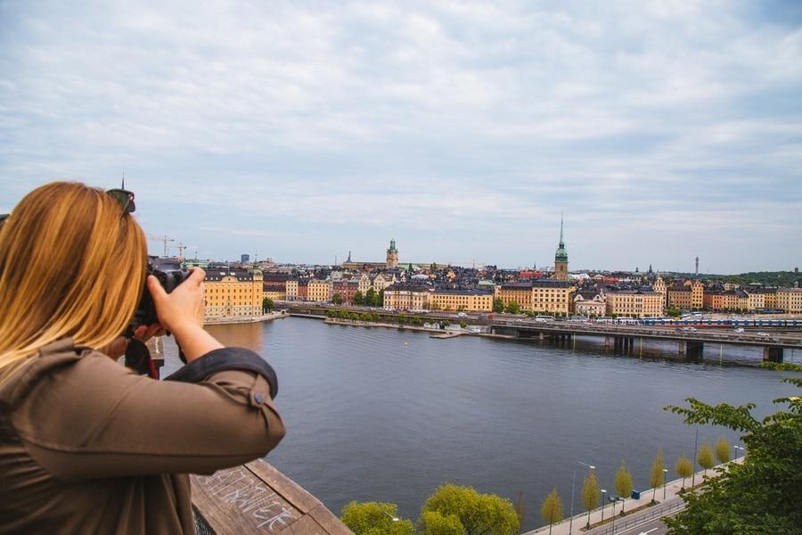 Skyline de Stockholm au sommet de Södermalm