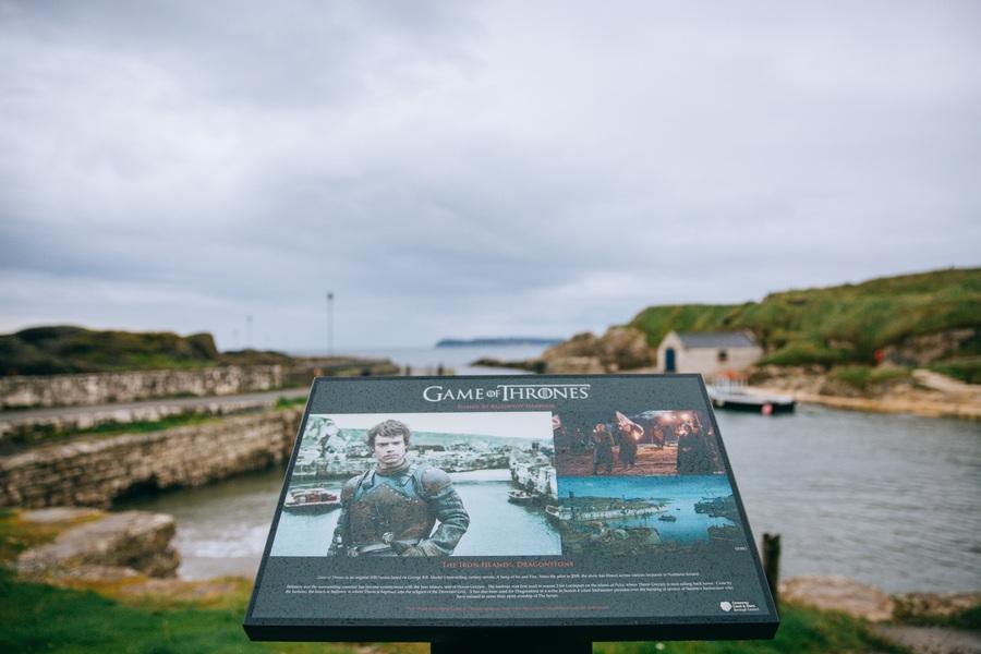 Ballintoy Harbour, lieu de tournage de Game of Thrones