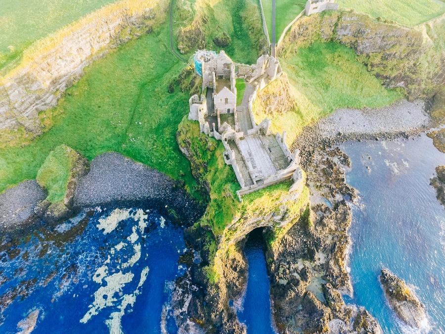 Dunluce Castle, lieu de tournage Game of Thrones