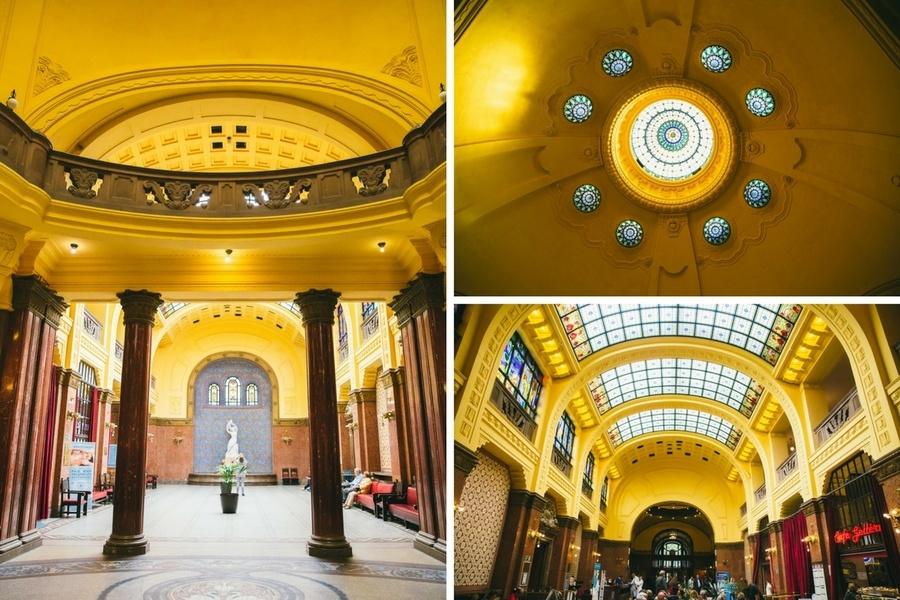 L'intérieur des Bains Géllert à Budapest