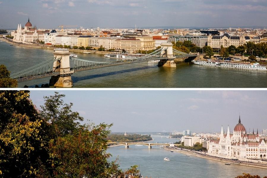 Vue sur Budapest depuis le Palais