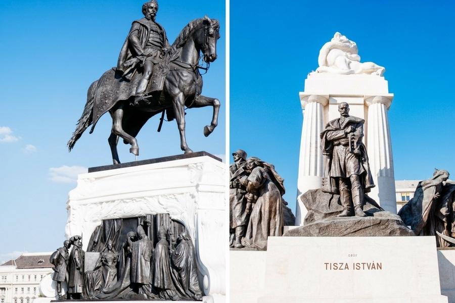 Statues Parlement de Budapest