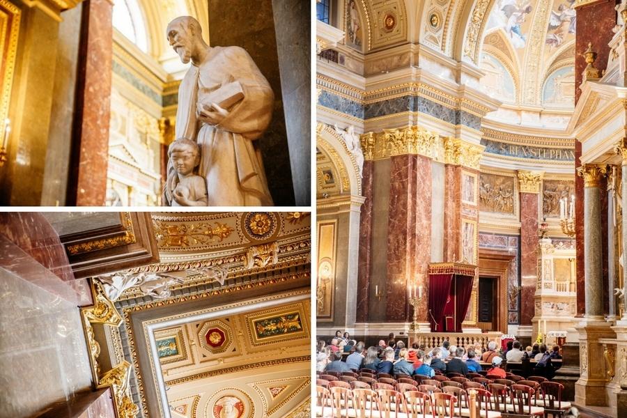 Intérieur Basilique Saint Etienne de Budapest