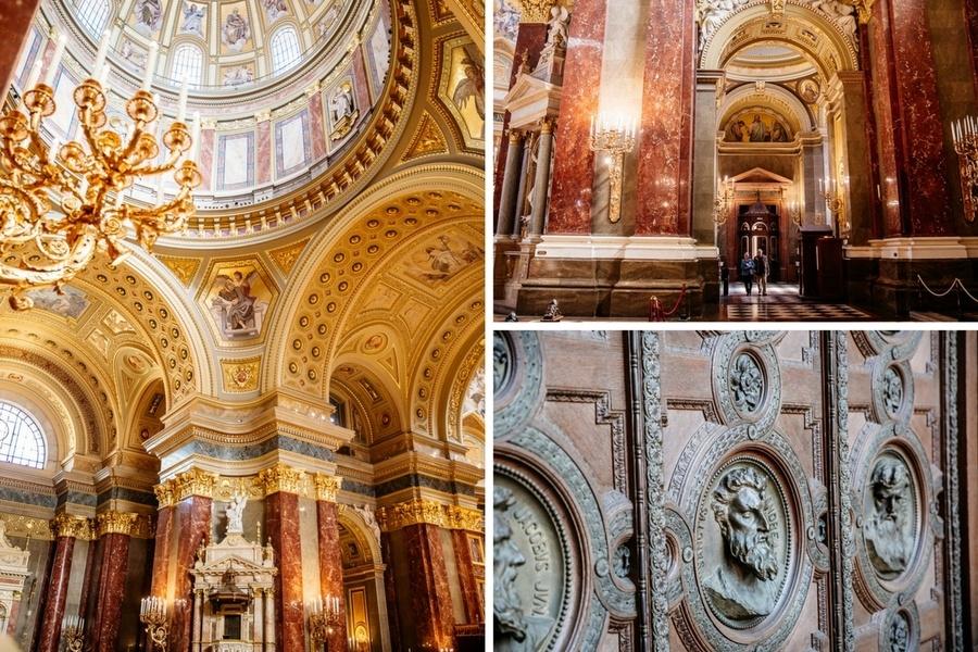Décoration Basilique Saint Etienne de Budapest