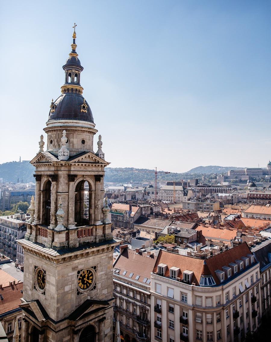 Vue panoramique Basilique Saint Etienne de Budapest