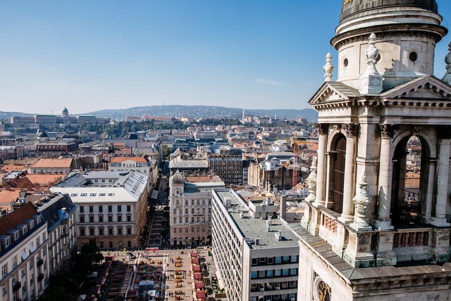 Terrasse Basilique Saint Etienne de Budapest