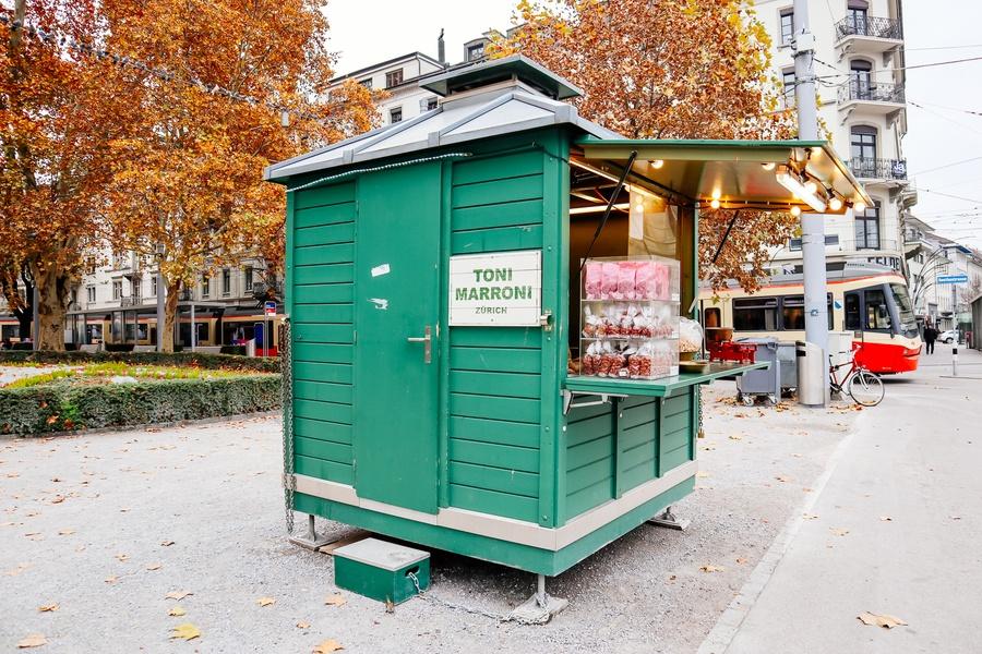 Marrons grillés visiter Zurich