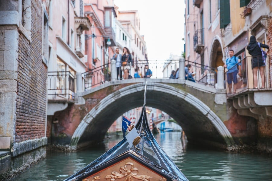 En gondole à Venise