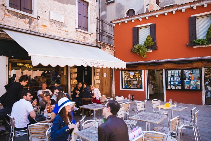 Terrasse restaurant La Cantina Venise