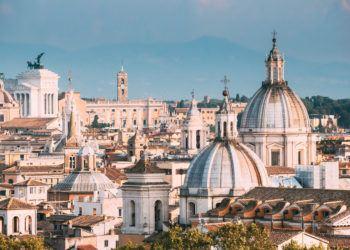Vue sur Rome et ses monuments